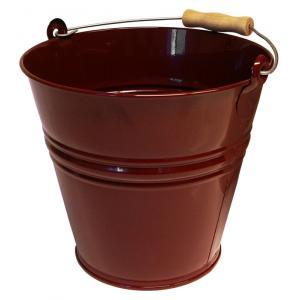 Zinken emmer 12 liter wijnrood