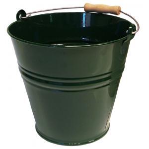 Zinken emmer 8 liter groen