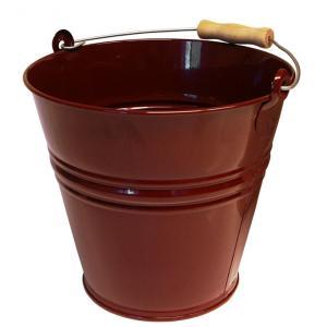 Zinken emmer 8 liter wijnrood