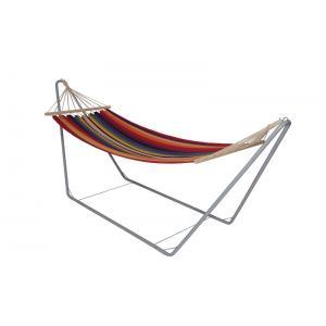 Hangmat met metalen frame regenboog