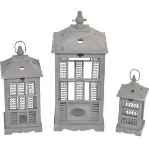 Birdy set van 3 lantaarns