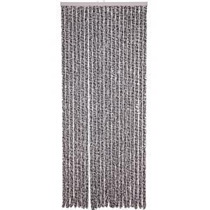 Kattenstaart gordijn antraciet-wit 100x230cm