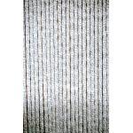 Kattenstaart gordijn grijs-wit 60x185cm