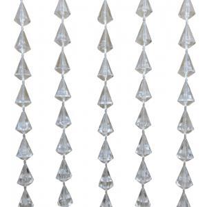 Vliegengordijn PVC diamant transparant 90x200cm