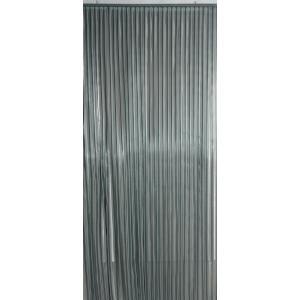 Vliegengordijn PVC grijs stroken 100x230cm