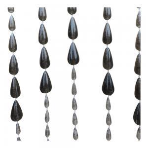Vliegengordijn PVC kralen druppel zwart 90x200cm