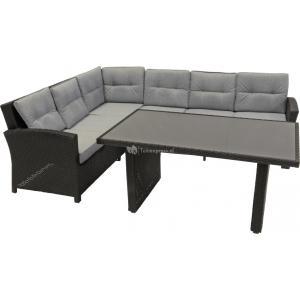 Lounge- dining set Jazz zwart