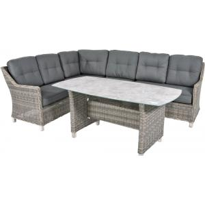 Hoek loungeset Cortona Smoke high dining