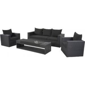 Roma loungeset zwart