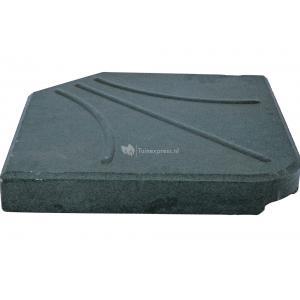 Kruisvoet betontegel 25 kg zwart