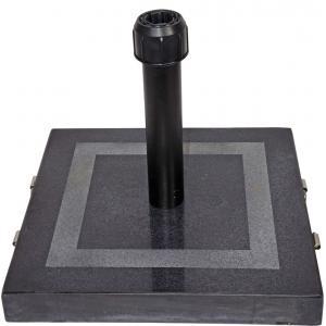 Parasolvoet graniet vierkant zwart 30 kg