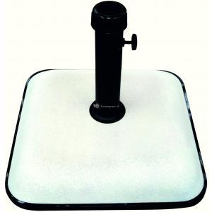 Parasolvoet beton vierkant 25 kg beige