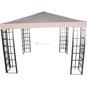 Paviljoen Royal met dak 3 x 3 meter - Ecru
