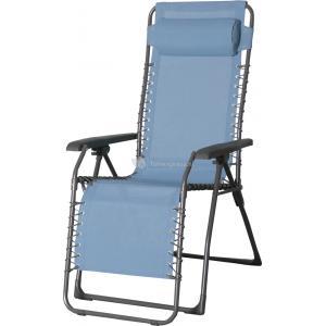 Relaxstoel blauw textileen