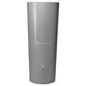 Garantia regenton met bloembak 350 liter zilver