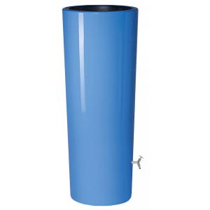 Garantia regenton met bloembak 350 liter blauw