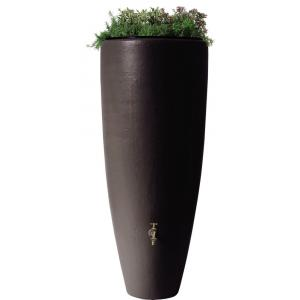 Garantia regenton met bloembak 300 liter mokka
