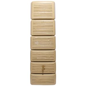 Garantia Slim regenton 300 liter wood decor beige