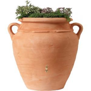 Garantia Amphore regenton met bloembak 600 liter terra