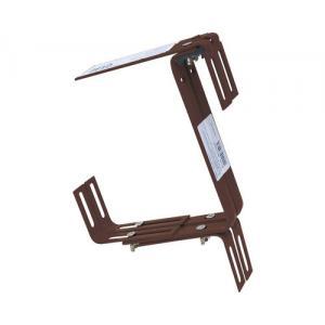 Balkonhaak type C bruin - 2 stuks
