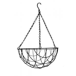 Hanging basket zwart gecoat - Hanging basket Ø 30 cm