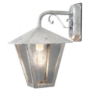 Wandlamp Benu met rookkleurig glas neerwaarts