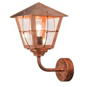 Wandlamp Fenix met transparant glas opwaarts