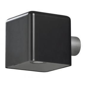 Wandlamp Amalfi kubus - Zwart