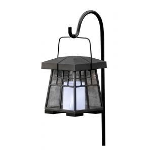 Solar lantaarn met kaars zwart