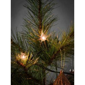 Kerstboomverlichting met 20 vlamvormige kaarslampen