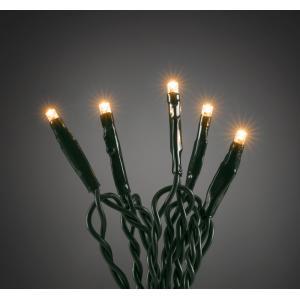 Micro LED lichtsnoer groen met 100 extra warm witte lampen