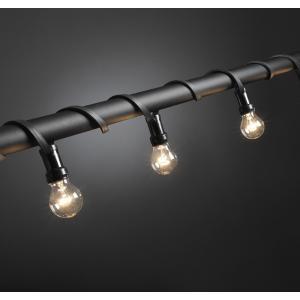 Feestverlichting met heldere e27 lampen - 7 meter - 10 lampen