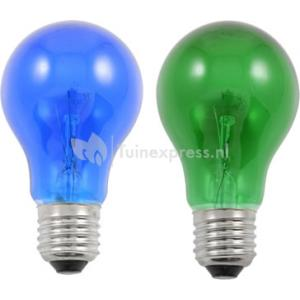 Lichtbron e27 groen - blauw voor feestverlichting