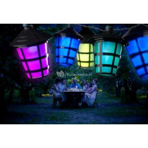 LED feestverlichting met gekleurde lampionnen - 19.75 meter - 40 lampen