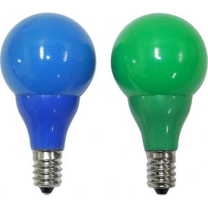 LED lichtbron e14 groen - blauw voor feestverlichting