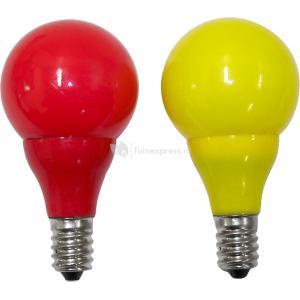 LED lichtbron e14 rood - geel voor feestverlichting