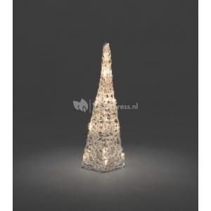 LED verlichte acryl piramide 40 cm