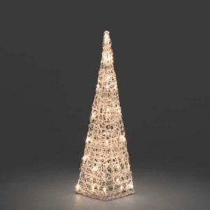 LED verlichte acryl piramide 60 cm