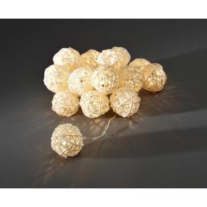 LED deco lichtsnoer gevlochten blanke bollen