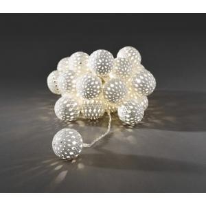 LED deco lichtsnoer witte metalen ballen