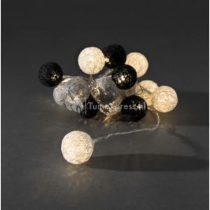 LED cotton balls lichtsnoer monochrome 3.5cm