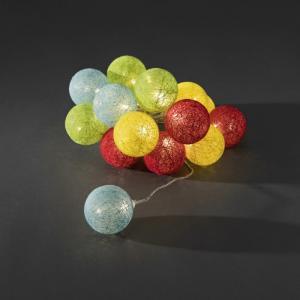 LED cotton balls lichtsnoer multicolor 6cm