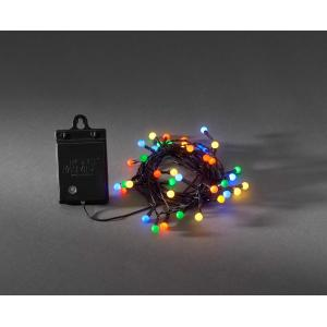 LED lichtsnoer cherry multicolor op batterijen