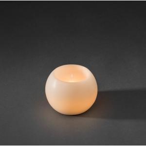 LED waskaarsbol wit op batterijen - Diameter 12cm