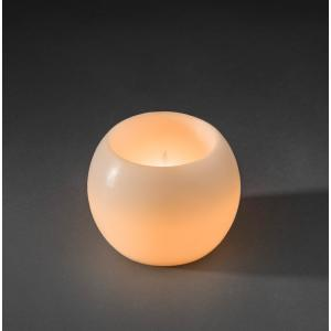 LED waskaarsbol wit op batterijen - Diameter 16 cm