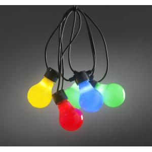 LED feestverlichting met multicolor opaal lampen - 4.5m