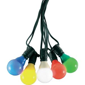 LED feestverlichting met gekleurde e14 kogellampen - 14.5 meter - 20 lampen