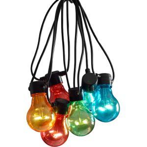 LED feestverlichting met gekleurde lampen - 19.5 meter - 20 lampen