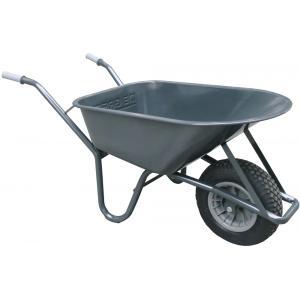 Metalen bouwkruiwagen 85 liter grijs - Binnenband