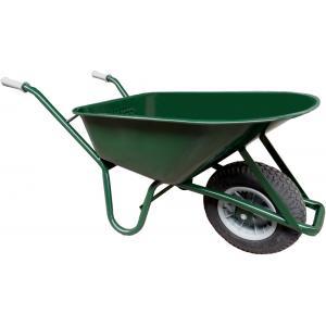 Metalen bouwkruiwagen 85 liter groen - Binnenband
